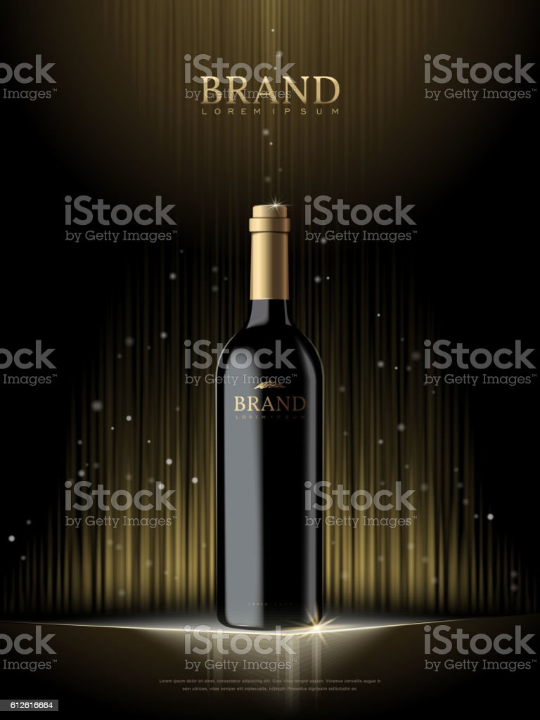 Luxury champagne poster vector art illustration
