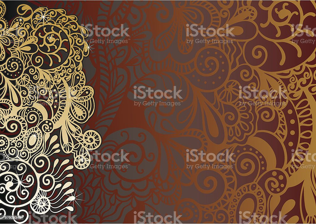 luxury floral background royalty-free stock vector art