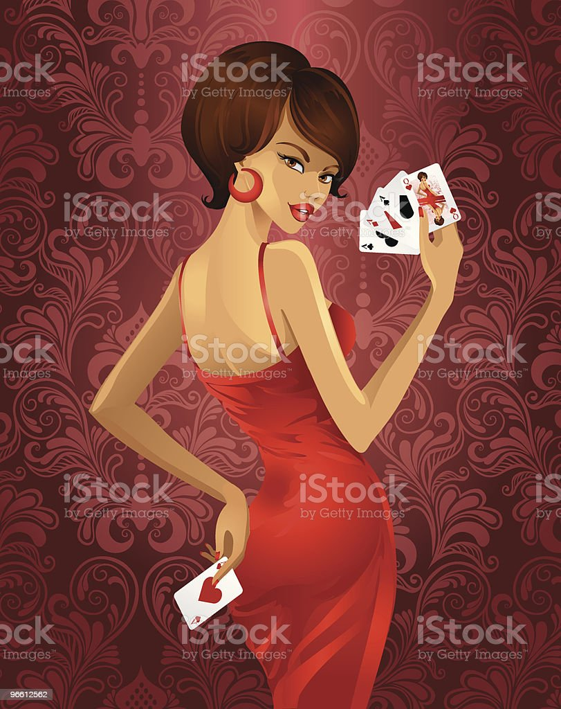 Luxury game in poker vector art illustration