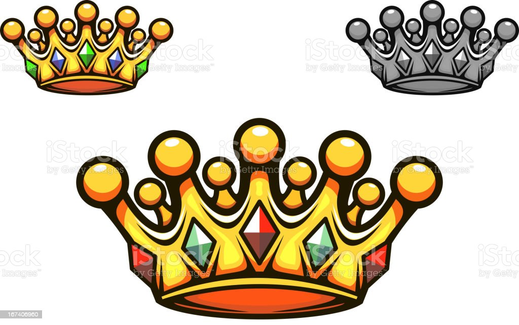 Luxury gold crown royalty-free stock vector art
