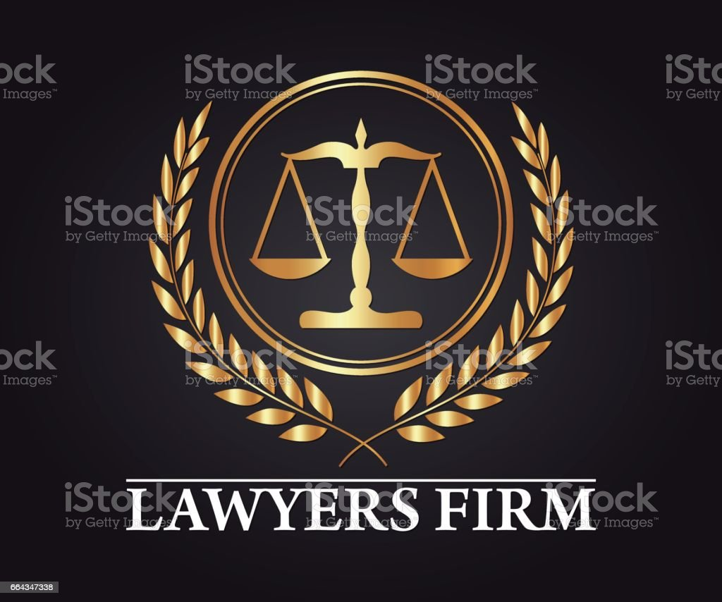 Luxury Lawyer Firm and Lawyer Company Vector Design vector art illustration
