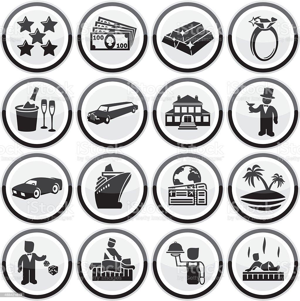 Luxury Lifestyle Icons vector art illustration