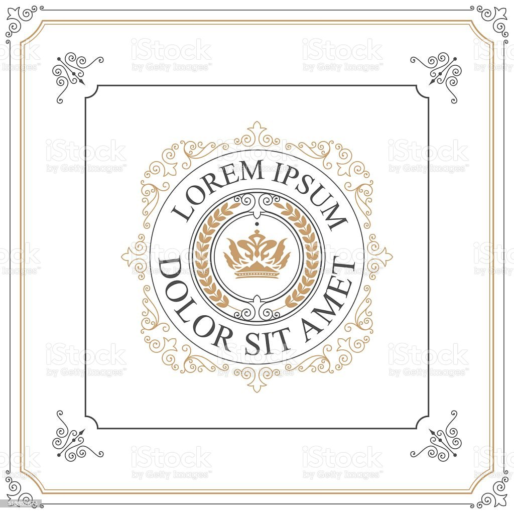 Luxury logo template vector art illustration