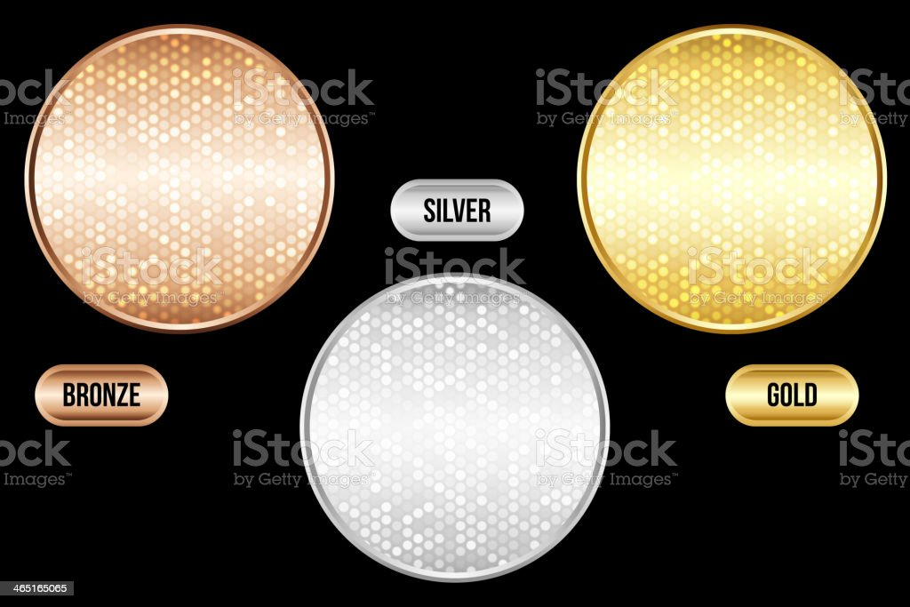 Luxury metallic backgrounds with their name next to them vector art illustration