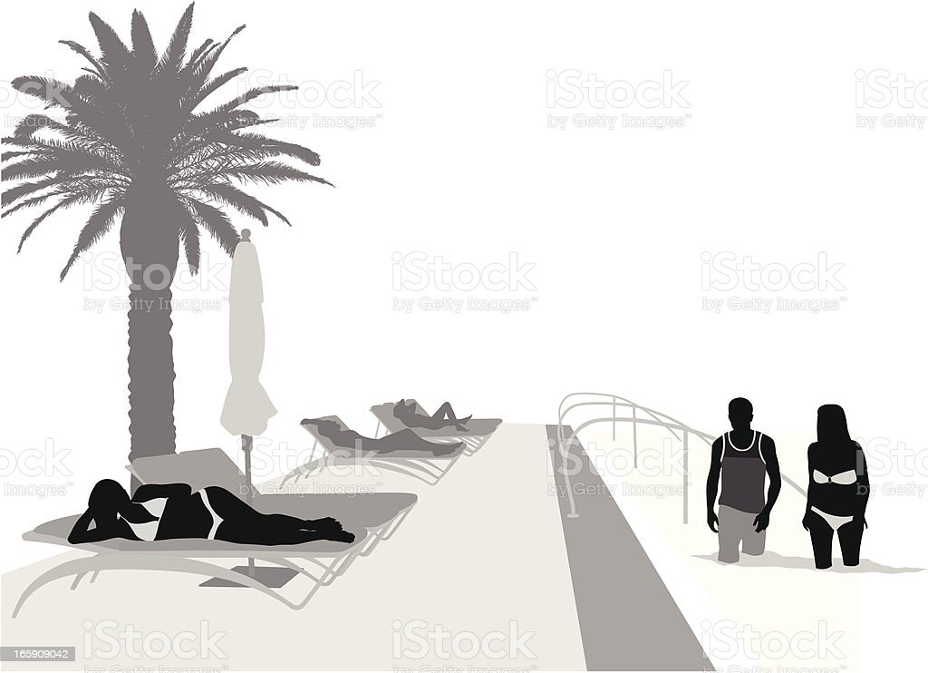 Luxury Pool Vector Silhouette royalty-free stock vector art