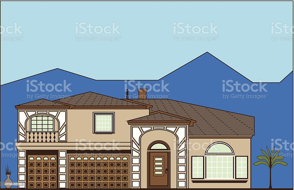 Luxury Property royalty-free stock vector art