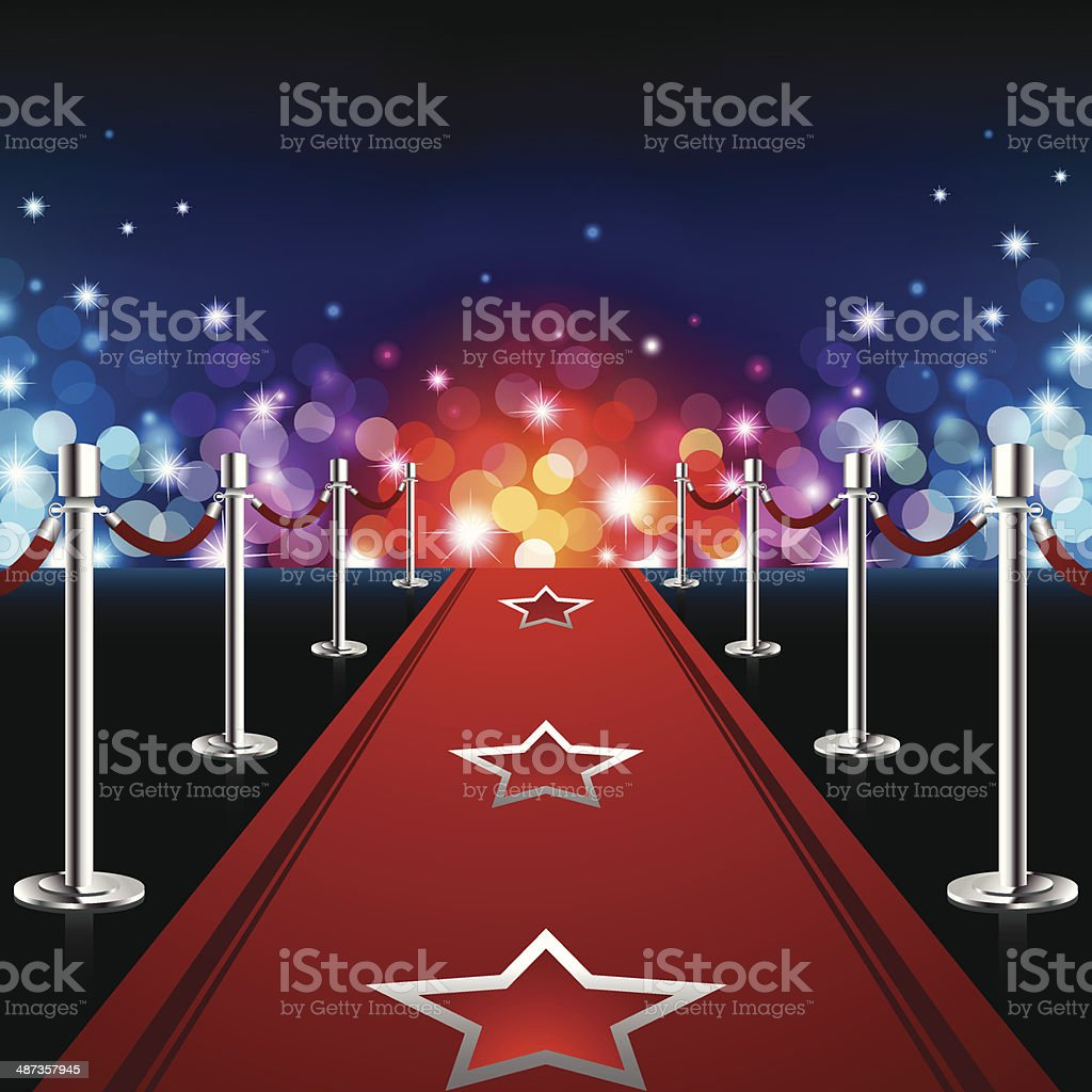 Luxury Red Carpet vector art illustration