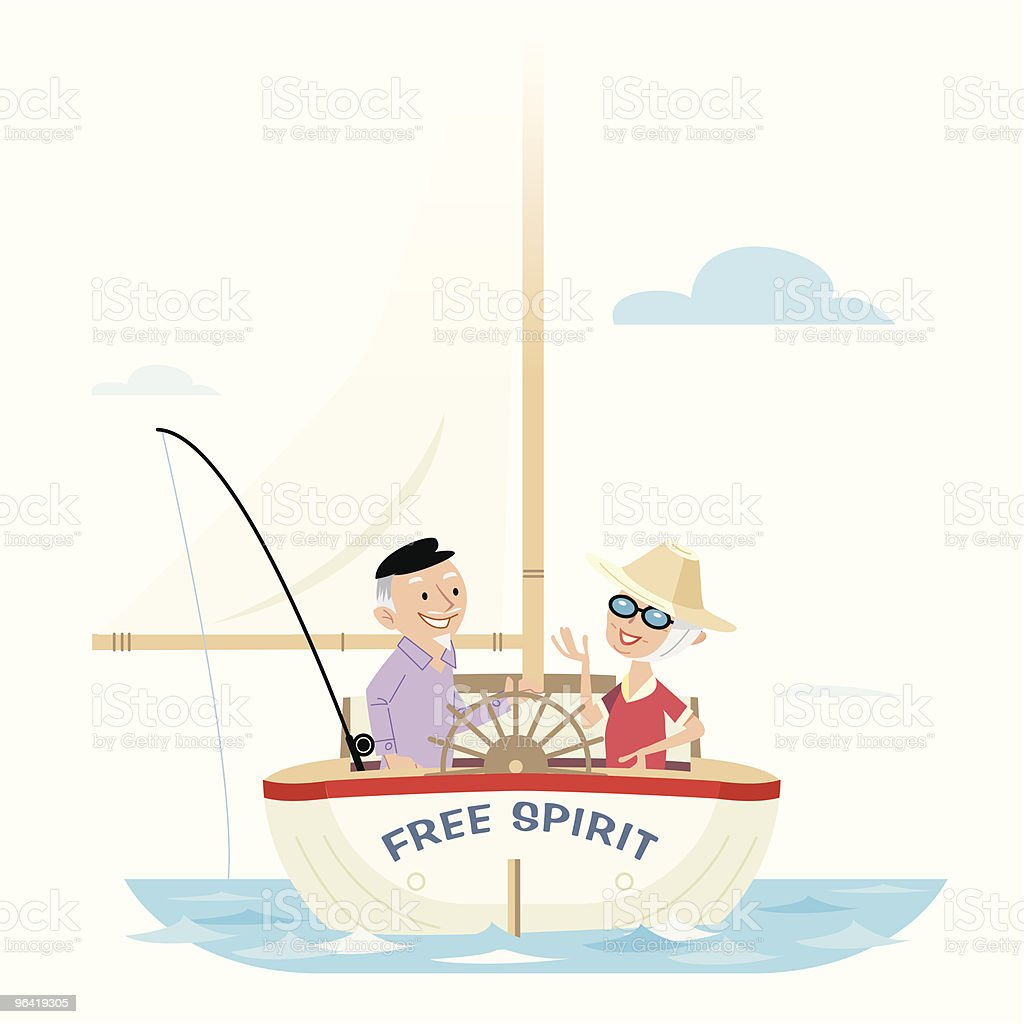 Luxury Retirement royalty-free stock vector art