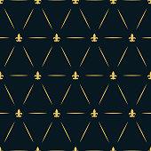 Luxury Royal Seamless Repeat Golden Pattern Wallpaper Lys Flower