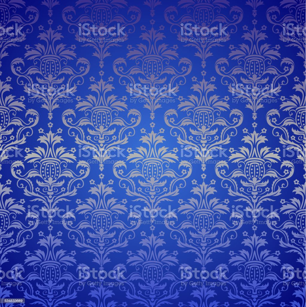 Luxury seamless golden floral wallpaper vector art illustration