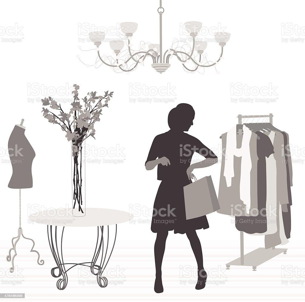 Luxury Shopping vector art illustration