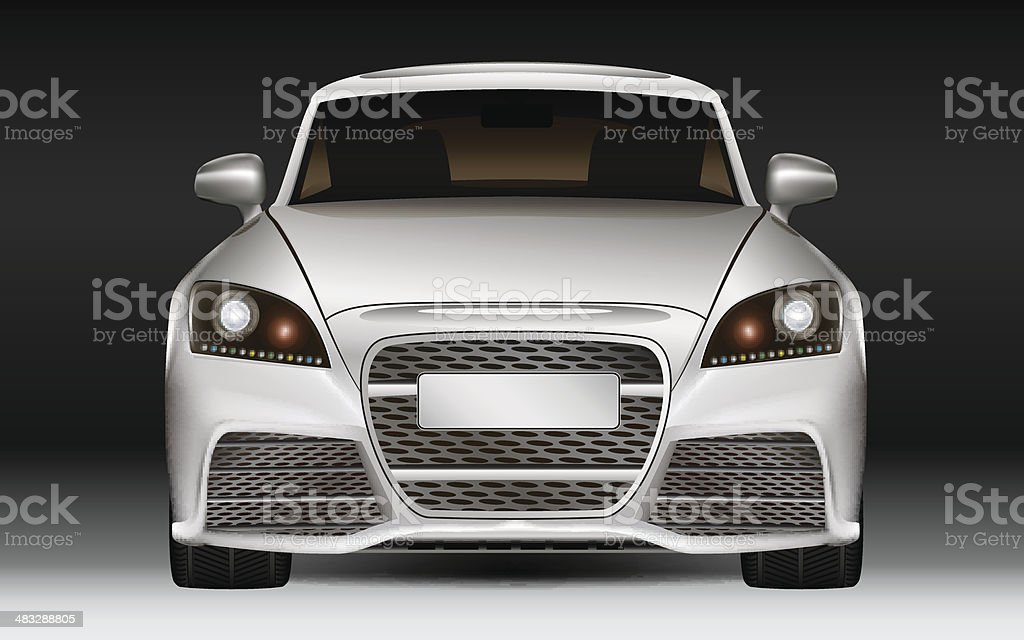 Luxury sports car vector art illustration
