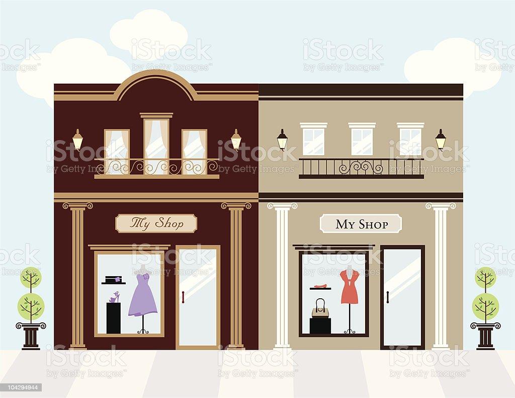 Luxury Stores vector art illustration