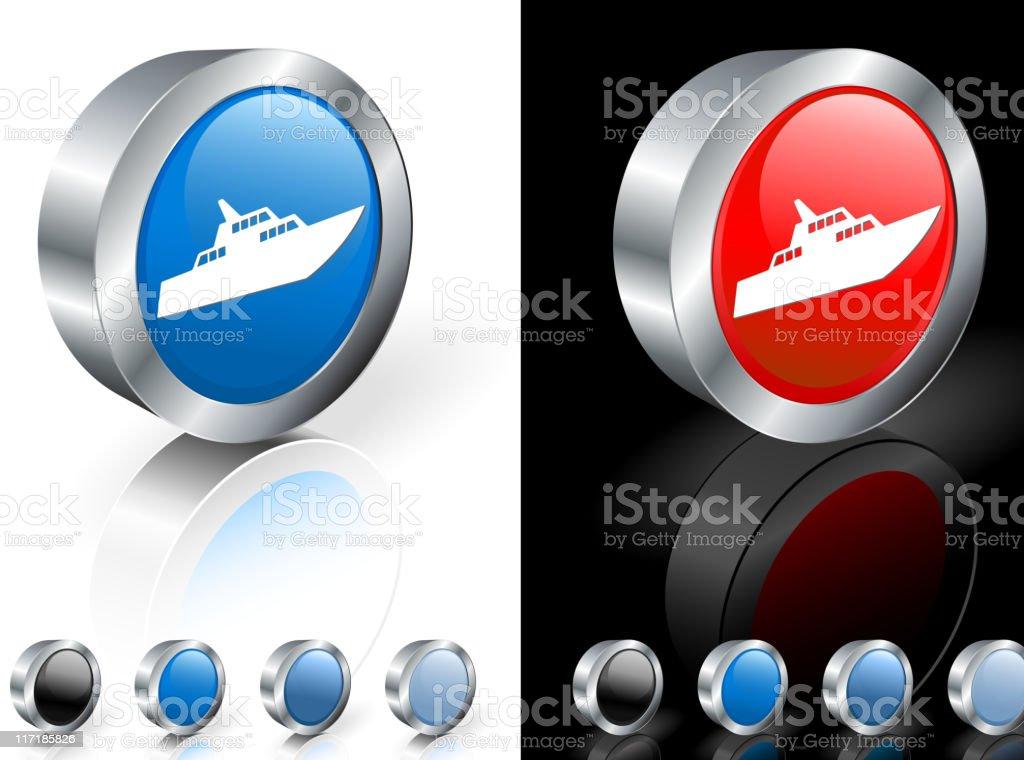 luxury yacht 3D royalty free vector art royalty-free stock vector art