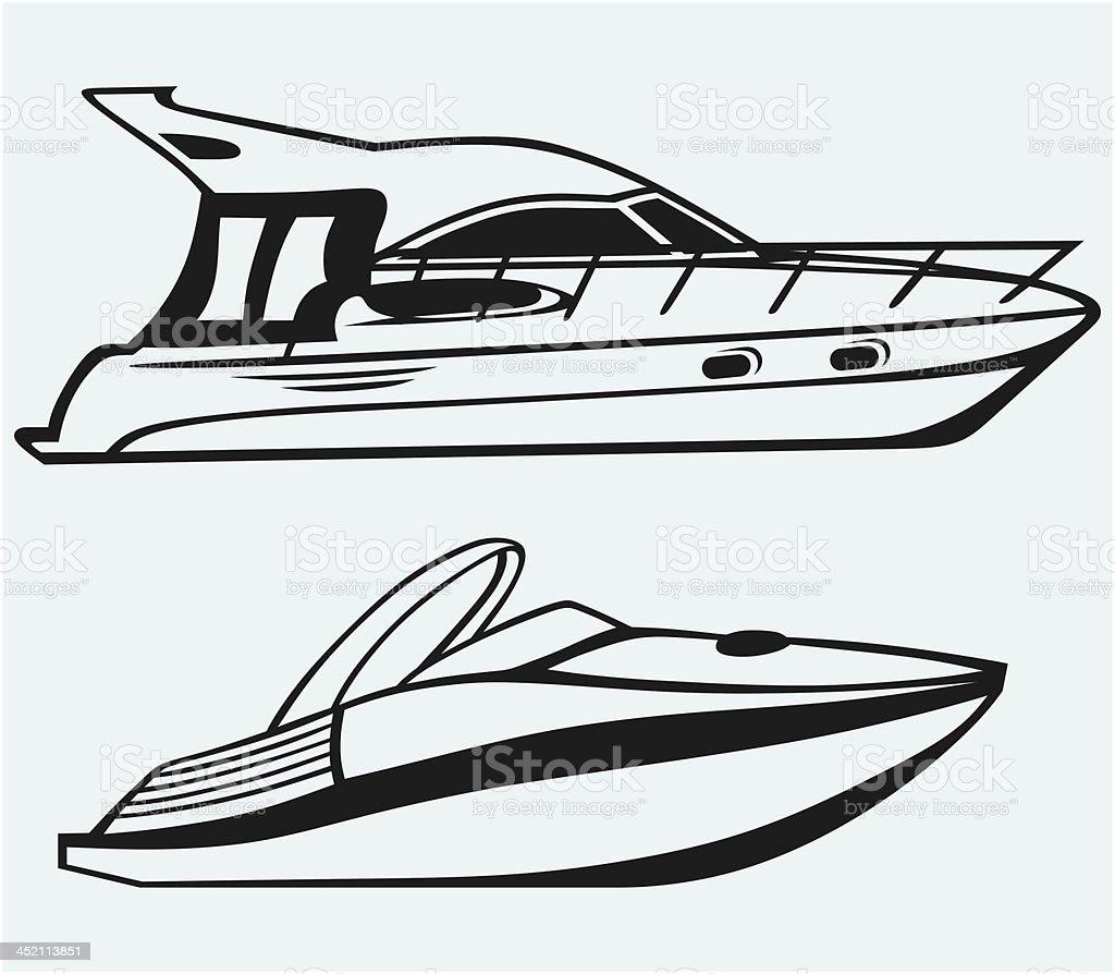 Luxury Yacht royalty-free stock vector art