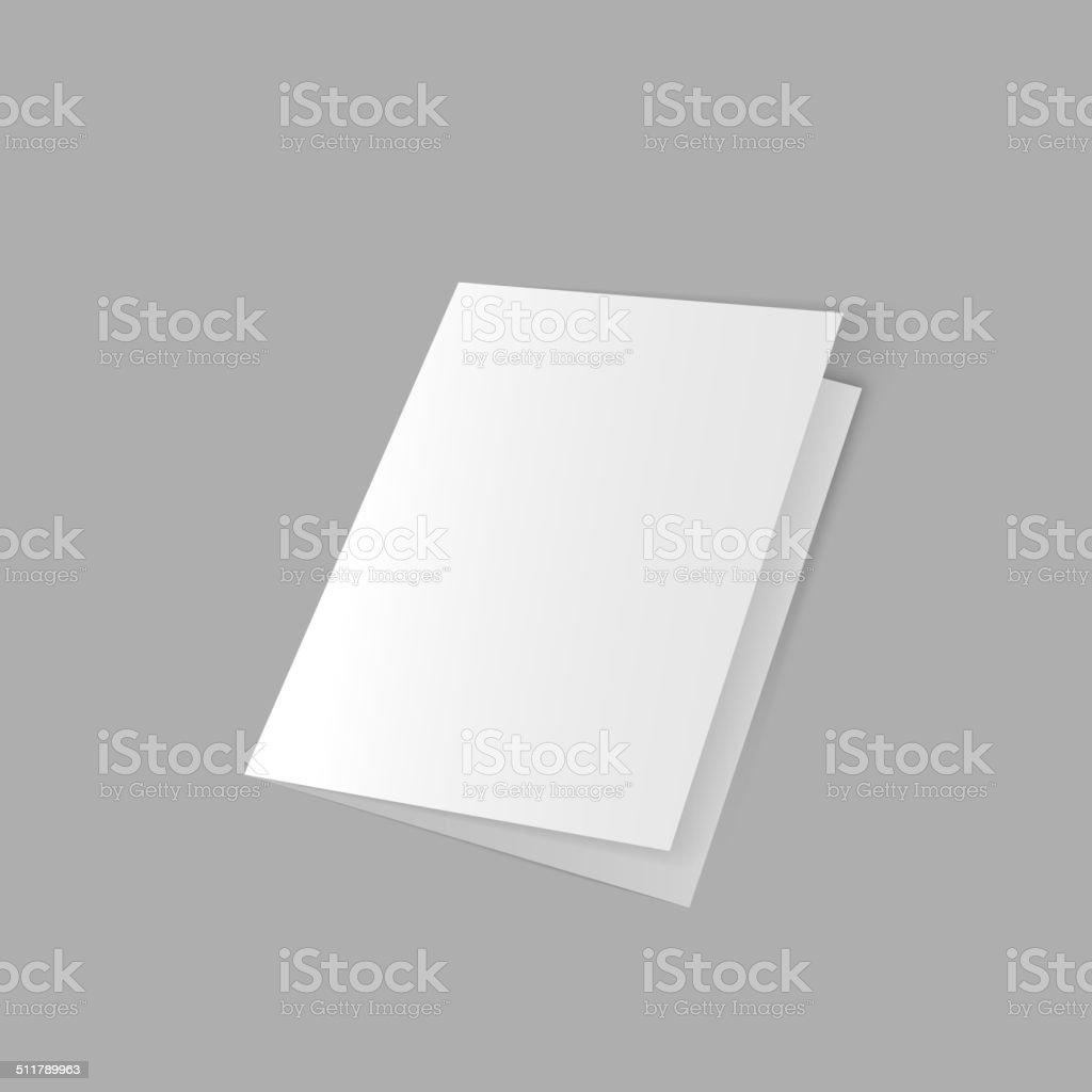 lying half-open blank vector art illustration