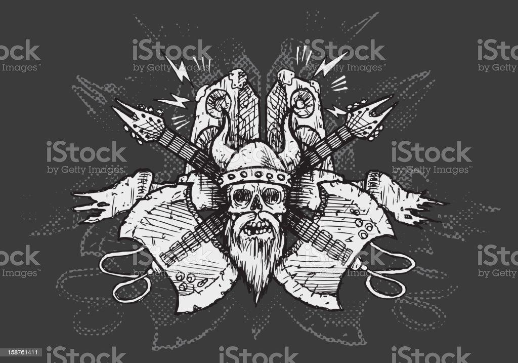 VIKING METAL \\m/ royalty-free stock vector art