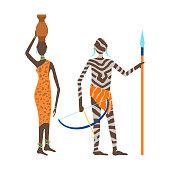 Maasai african people vector.