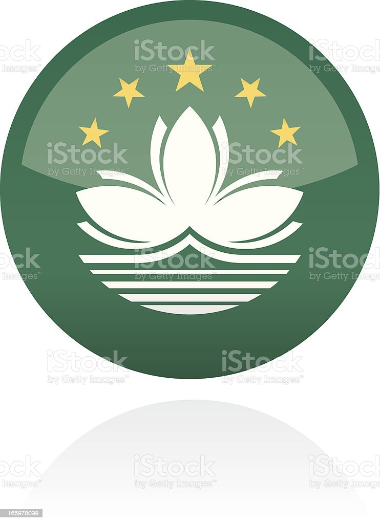 Macau, Asia Flag Button royalty-free stock vector art