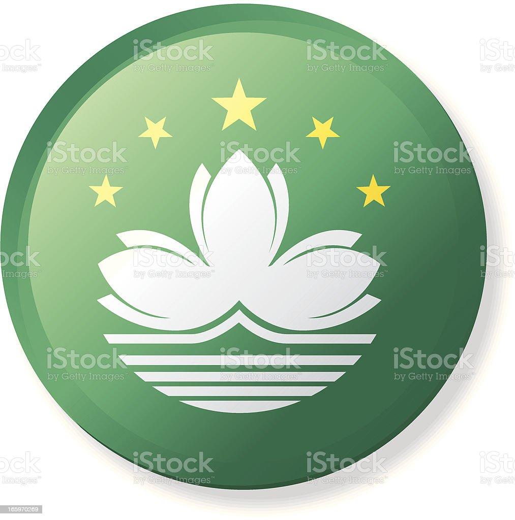 Macau Flag - Classic Style royalty-free stock vector art