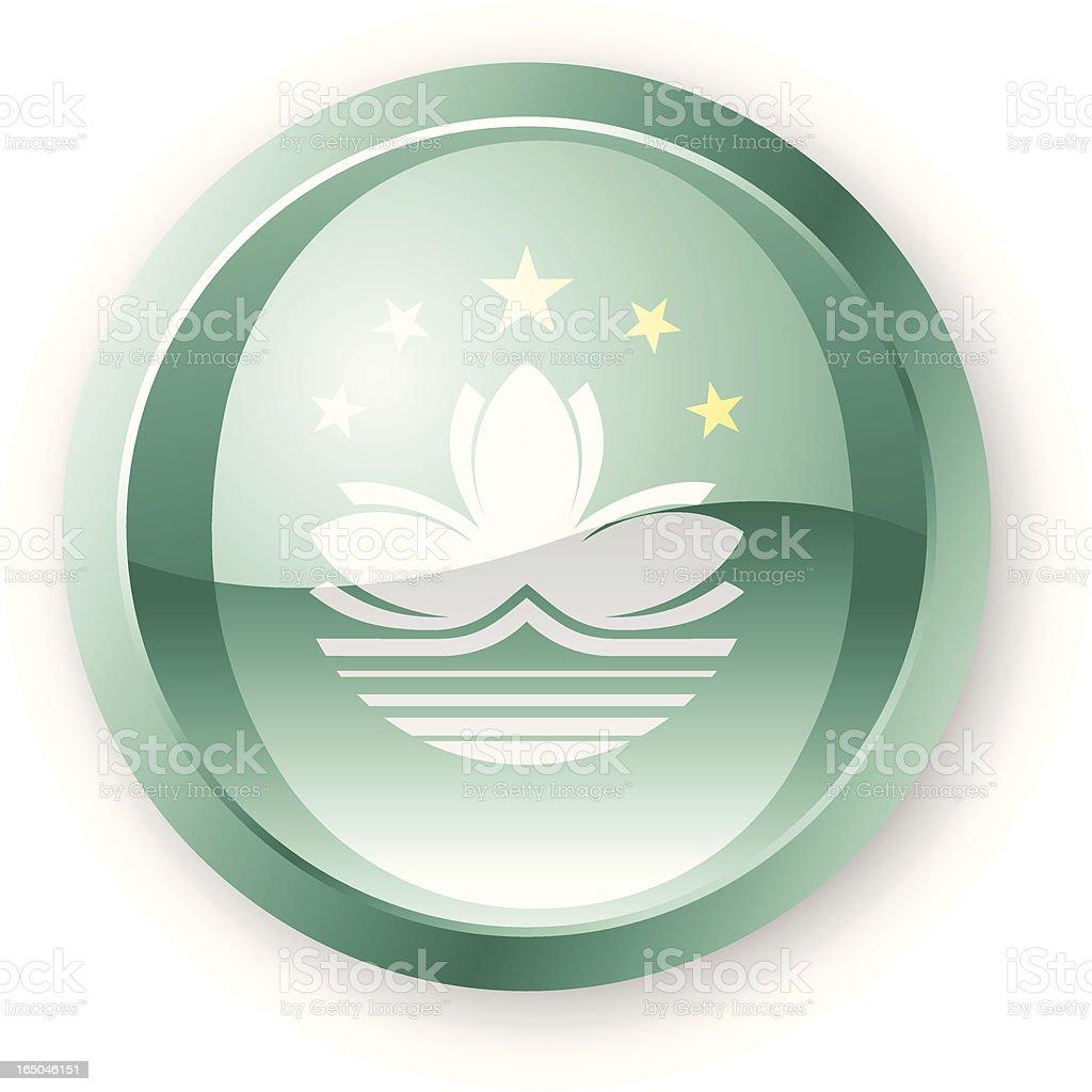 Macau Flag Icon royalty-free stock vector art