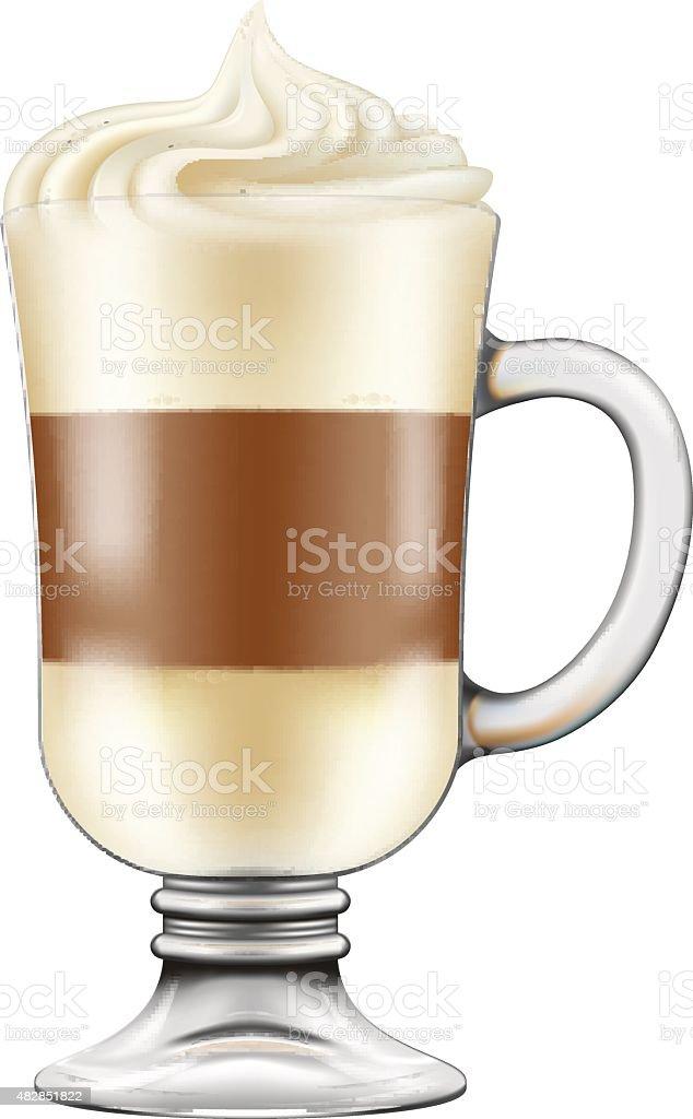 Macchiato / Cappuccino coffee. vector art illustration