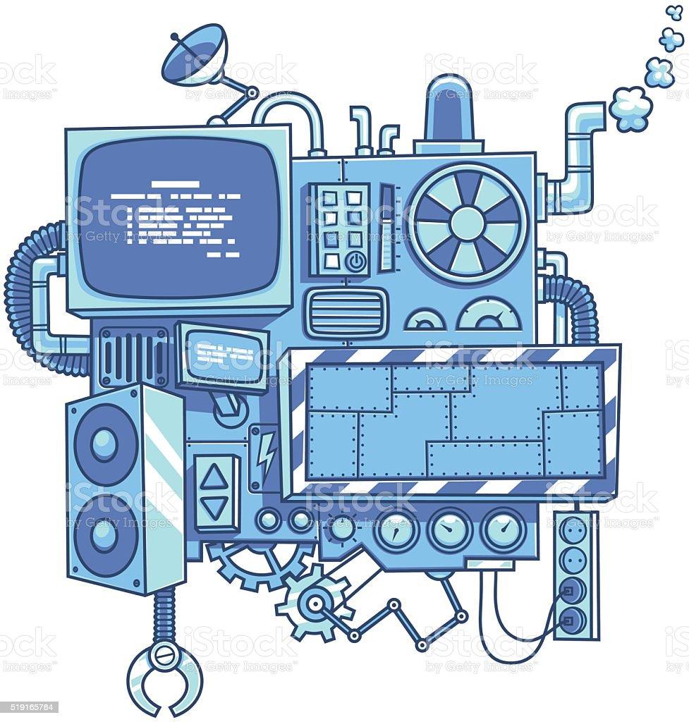 Machine 2 vector art illustration