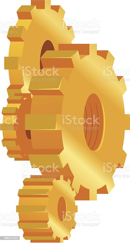 Machine gear royalty-free stock vector art