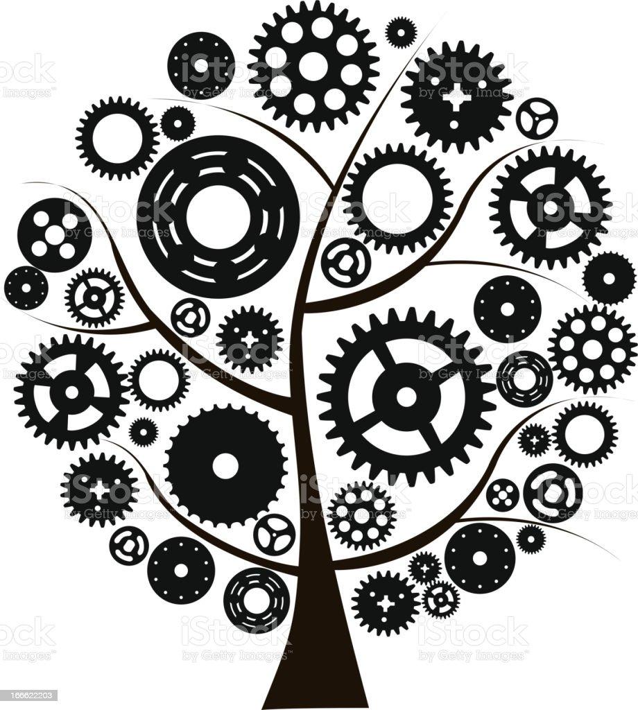 Machine Gear Wheel Cogwheel Vector royalty-free stock vector art