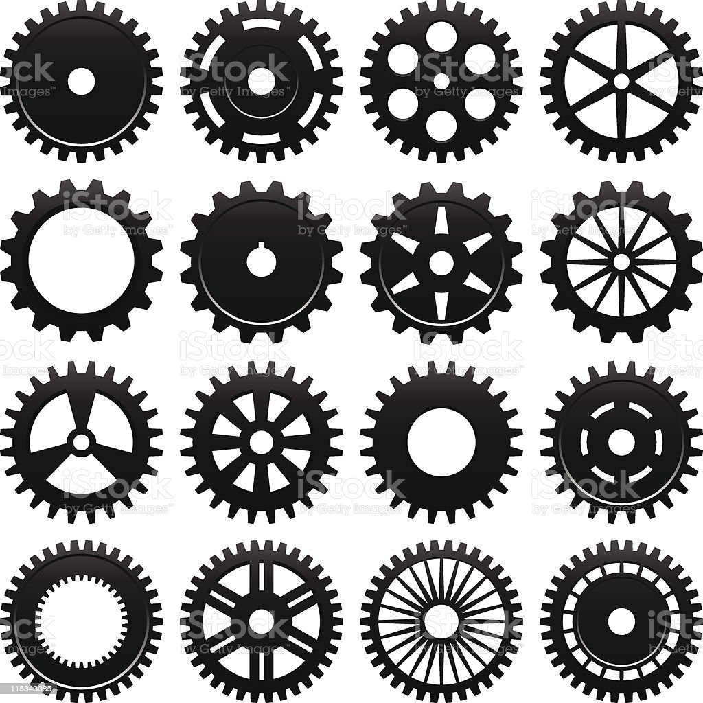 Machine Gear Wheel Vector royalty-free stock vector art