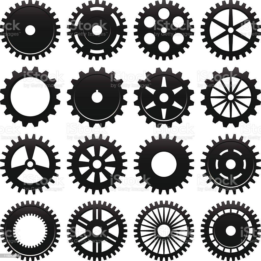 Machine Gear Wheel Vector vector art illustration