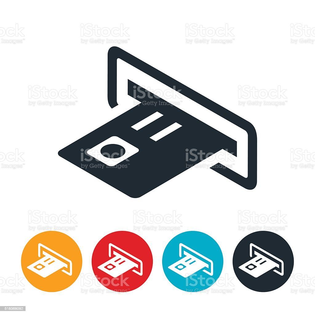 ATM Machine Icon vector art illustration