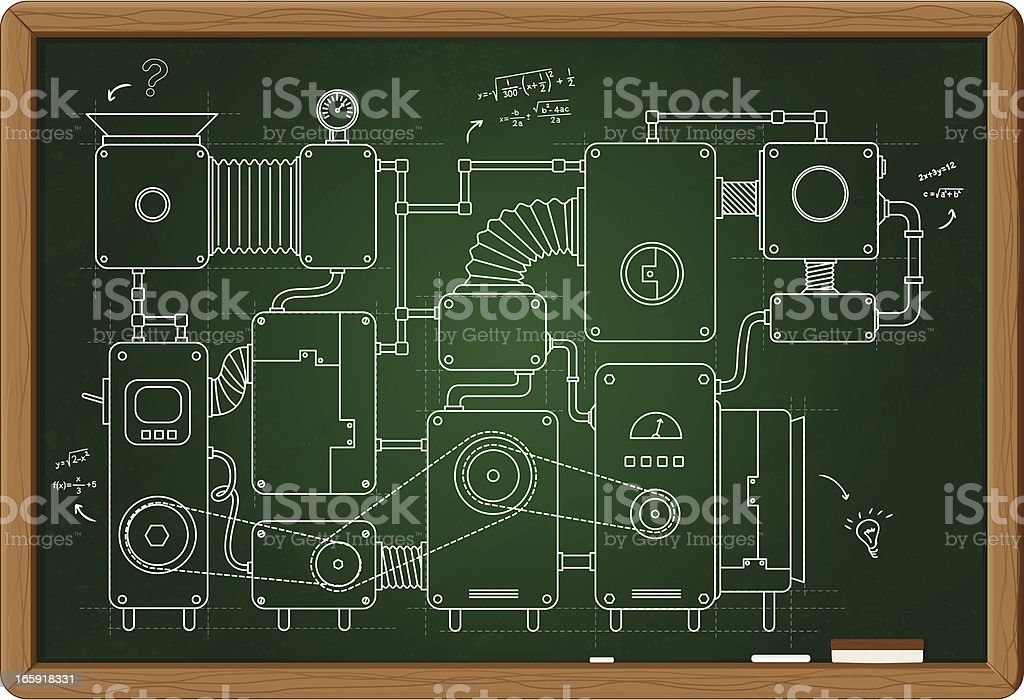 Machine project royalty-free stock vector art