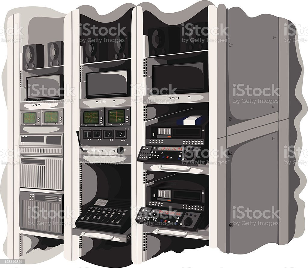Machine Room royalty-free stock vector art