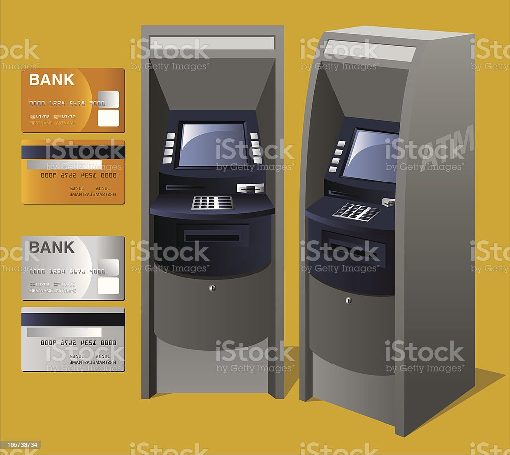 ATM Machine vector art illustration