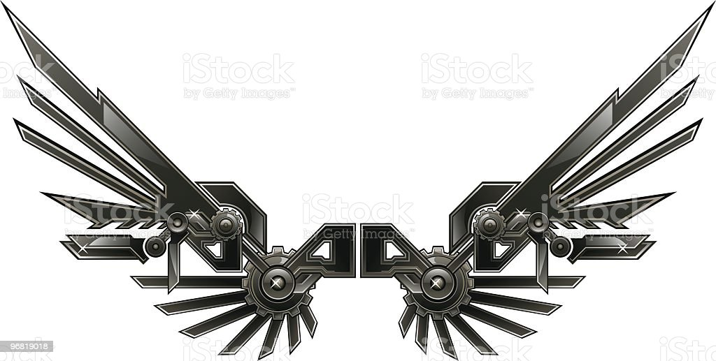 Machine wing royalty-free stock vector art
