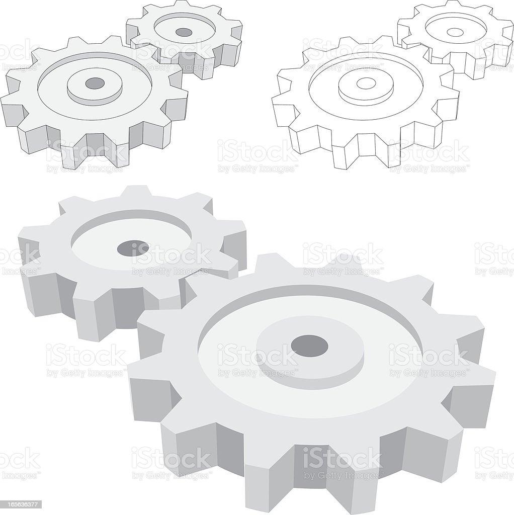 Machinery Parts royalty-free stock vector art