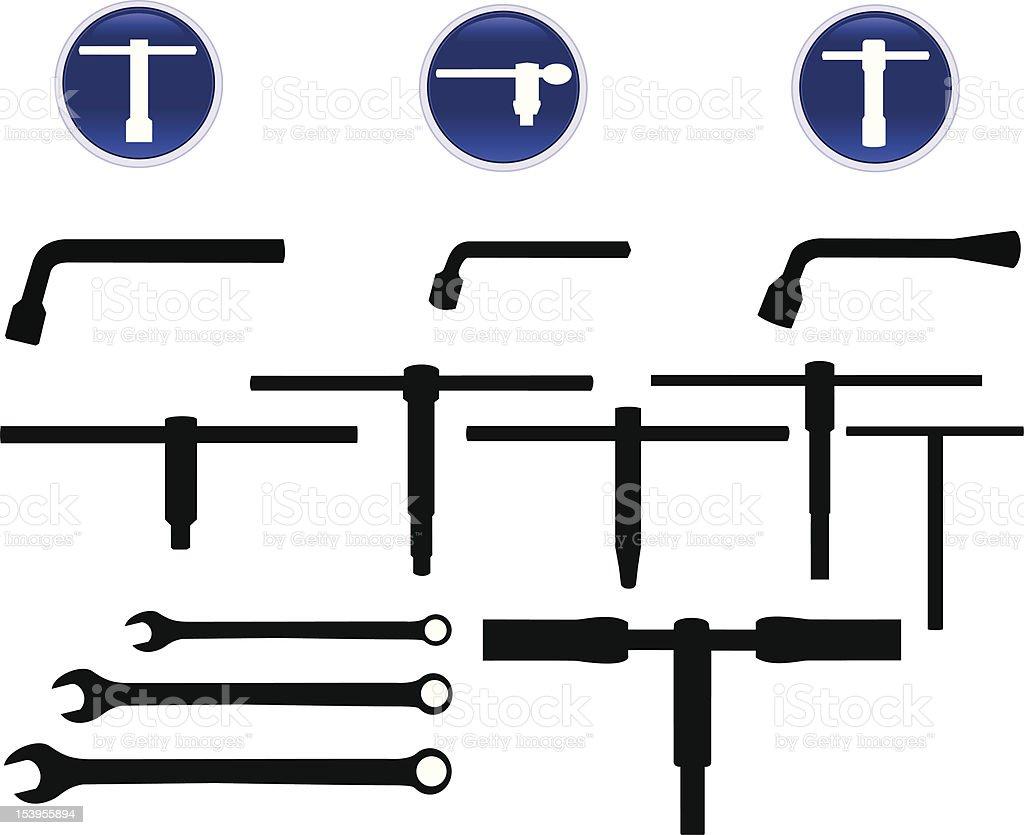 Machinist Tools vector art illustration