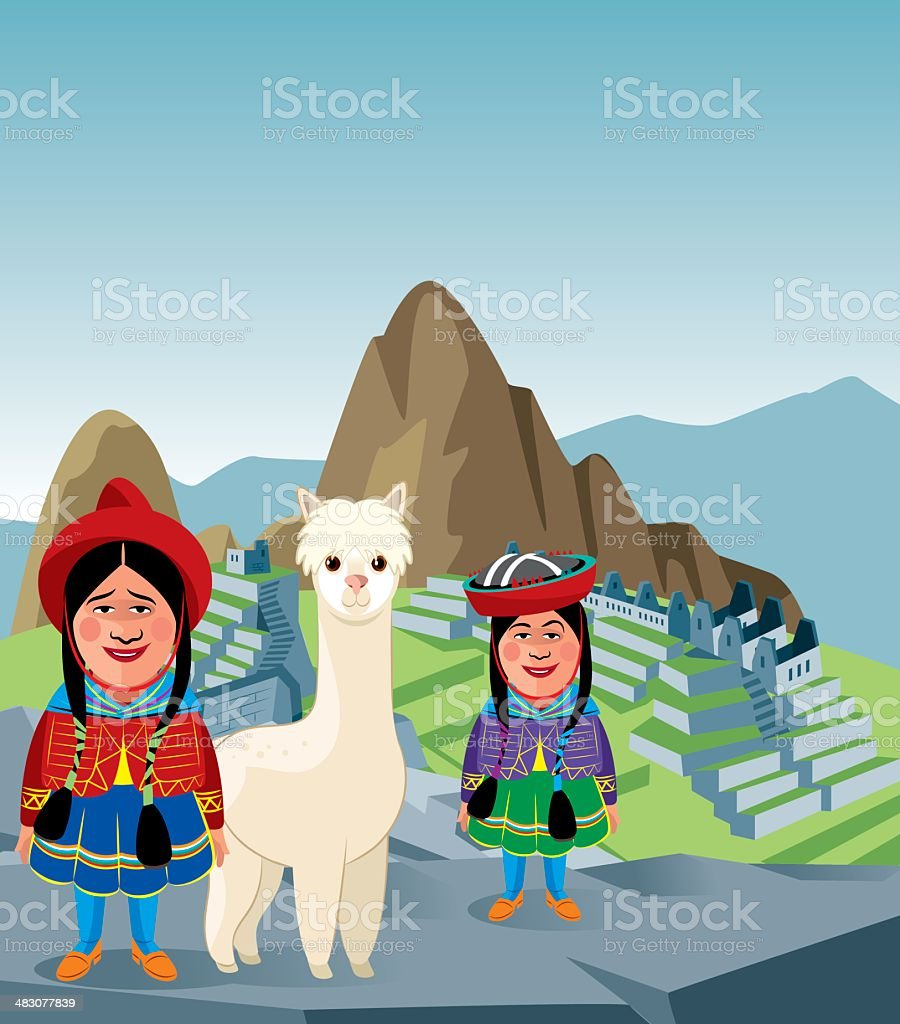 Machu Picchu royalty-free stock vector art