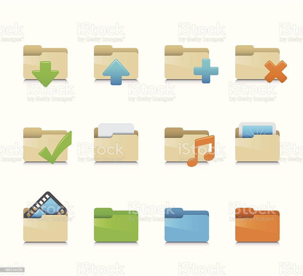 Maco Icon Set | Folders royalty-free stock vector art