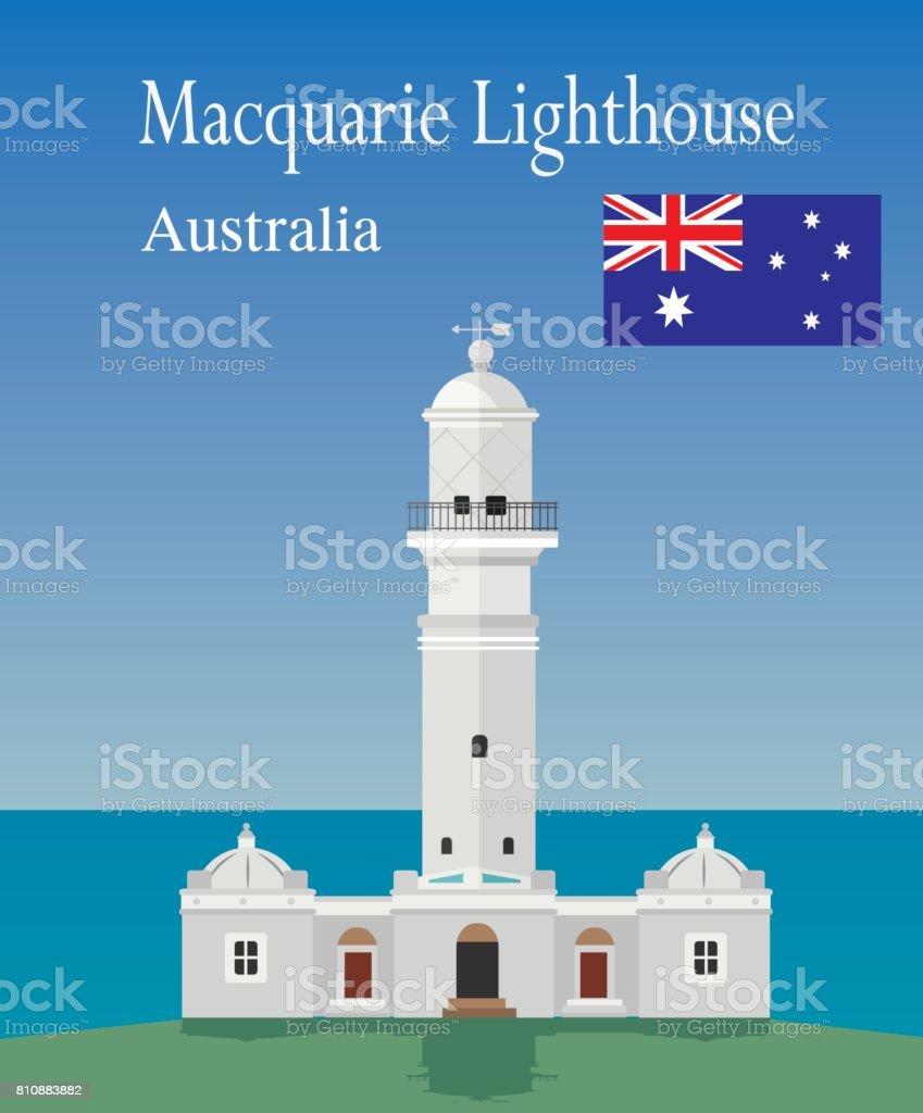 Macquarie Lighthouse vector art illustration