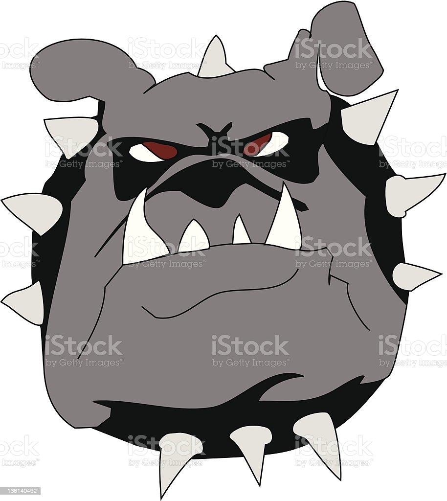 Mad bulldog royalty-free stock vector art