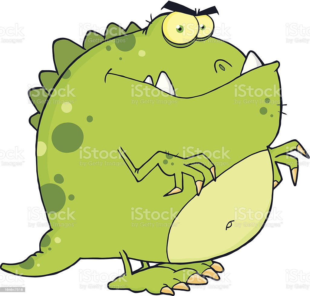 Mad Dinosaur royalty-free stock vector art