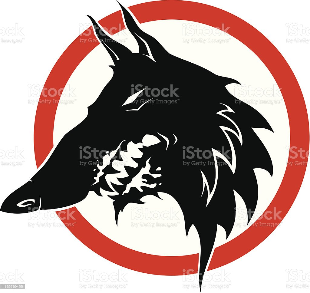 Mad dog royalty-free stock vector art