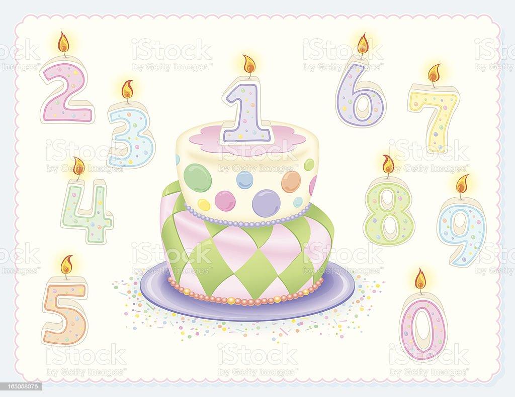Mad Hatter Birthday Cake royalty-free stock vector art