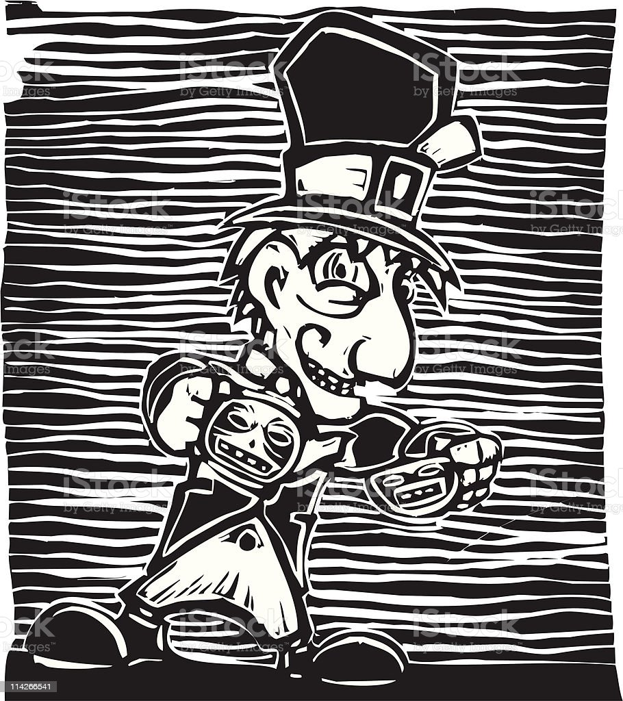 Mad Hatter vector art illustration