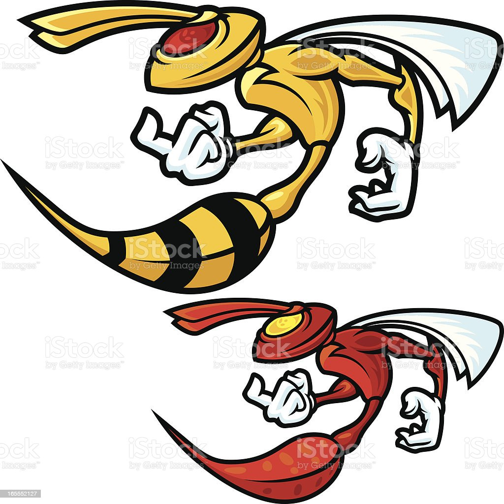 Mad Hornet Profile vector art illustration