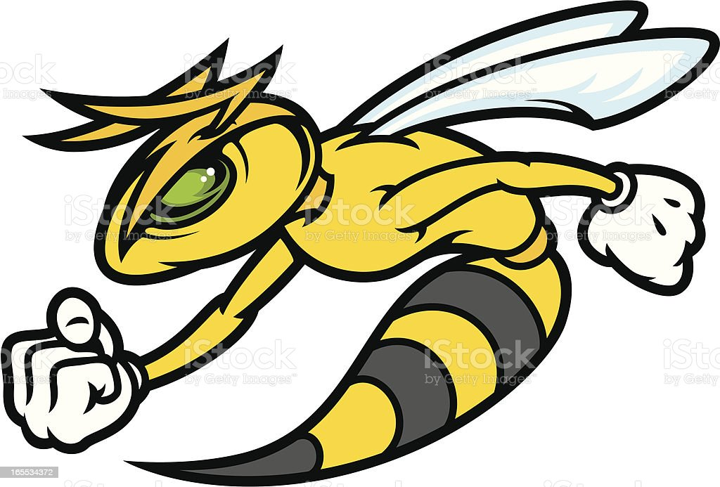 Mad Hornet vector art illustration
