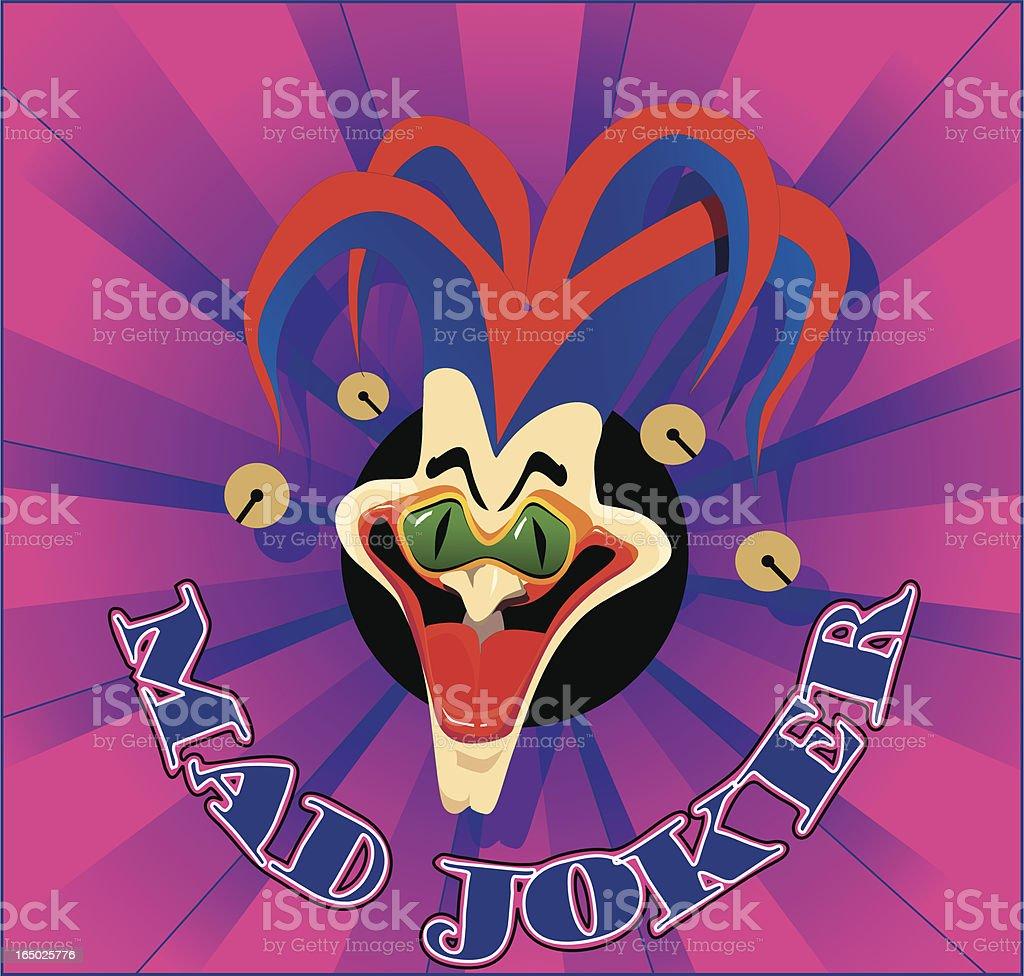 Mad Joker royalty-free stock vector art