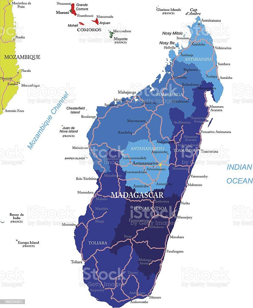 Madagascar map royalty-free stock vector art